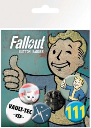 Fallout Ansteck-Buttons 6er-Pack Mix 1