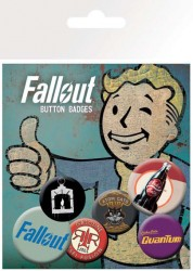 Fallout Ansteck-Buttons 6er-Pack Mix 2