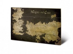Game of Thrones Holzdruck Westeros And Essos 40 x 60 cm
