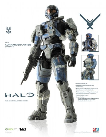 Halo Actionfigur 1/6 Spartan-III A259 Commander Carter 34 cm