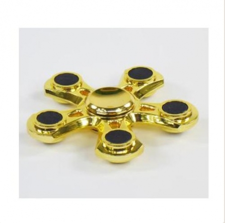 Fidget Spinner Fingerkreisel Gold Metallic (5-armig)