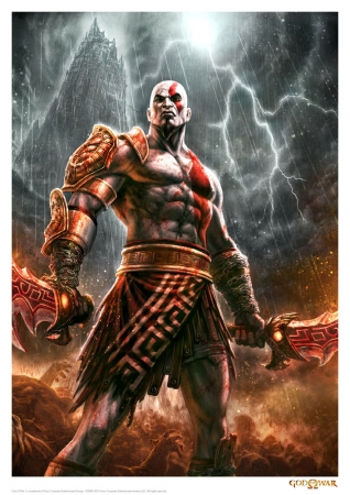 God of War Kunstdruck Lightning 42 x 30 cm