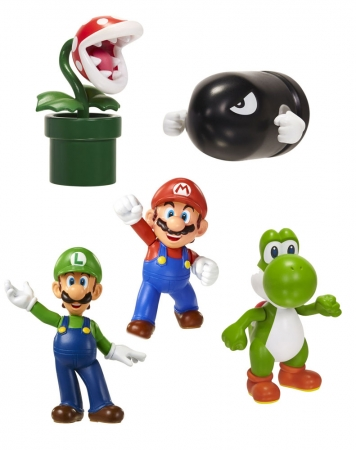 Super Mario World of Nintendo Vinyl Figuren 5-er Pack 6 cm Classic