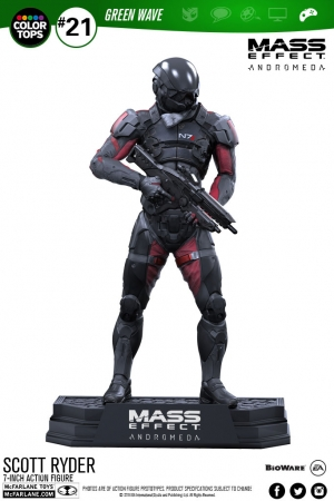 Mass Effect Andromeda Color Tops Actionfigur Scott Ryder 18 cm