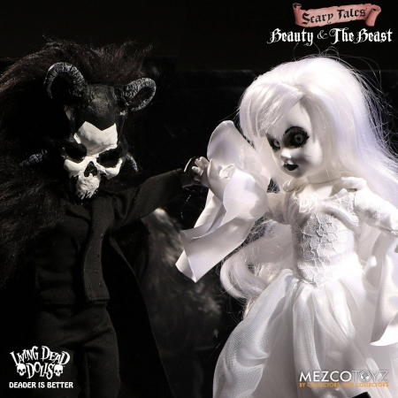Living Dead Dolls Scary Tales Puppen Set Beauty and the Beast 25 cm