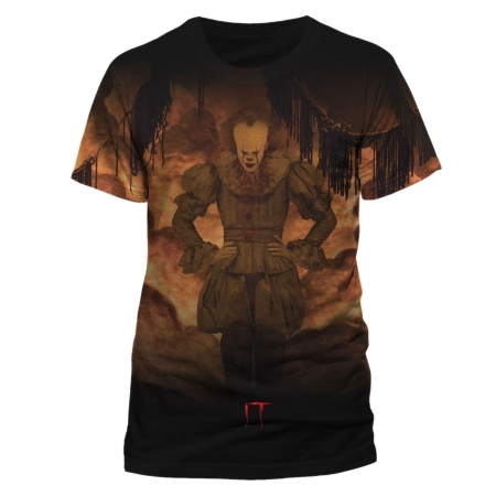 Stephen Kings Es Sublimation T-Shirt Flames
