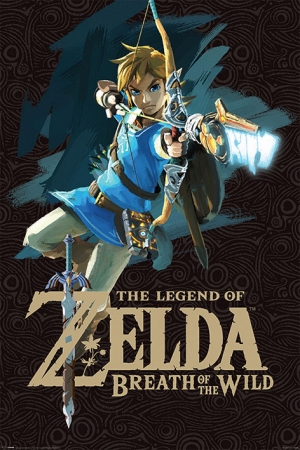 Legend of Zelda Breath of the Wild Poster Game Cover 61 x 91 cm