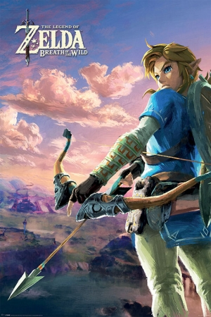 Legend of Zelda Breath of the Wild Poster Hyrule Scene Landscape 61 x 91 cm