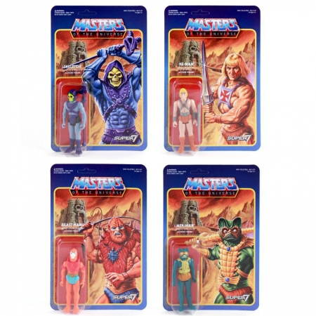 Masters of the Universe ReAction Actionfiguren 10 cm Wave 1 (4 Figuren)