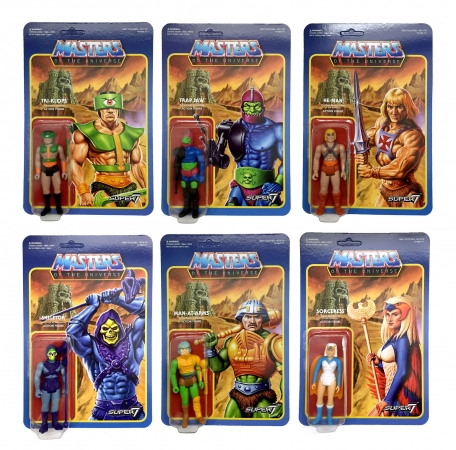 Masters of the Universe ReAction Actionfiguren 10 cm Wave 2 (6 Figuren)