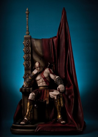God of War Statue 1/4 Kratos on Throne 74 cm