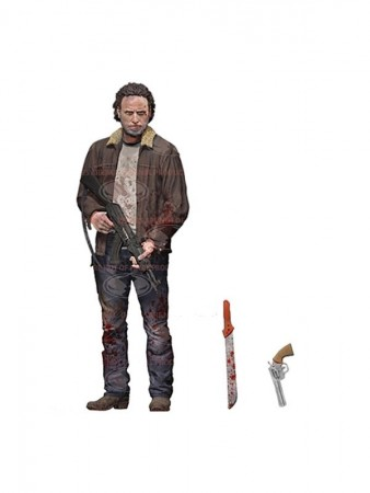 The Walking Dead TV Version Actionfigur Rick Grimes 13 cm Serie 8