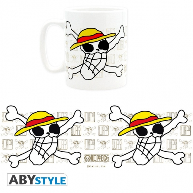 One Piece XL Tasse - Skull drawn by Luffy
