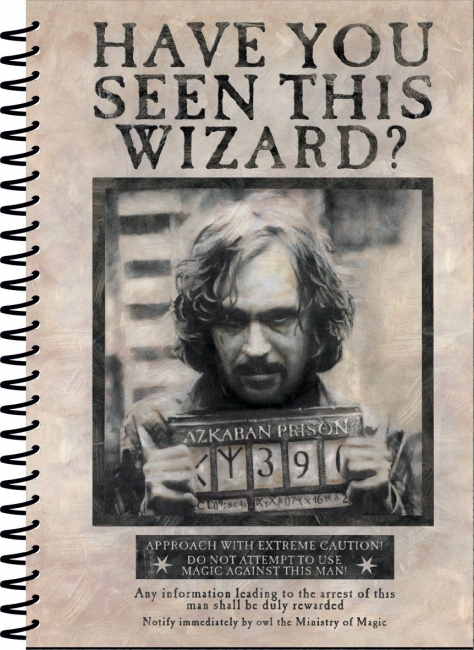 Harry Potter Notizbuch A5 Wanted Sirius Black