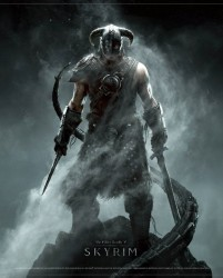 The Elder Scrolls V Skyrim Wallscroll Dragonborn 77cm x 100cm